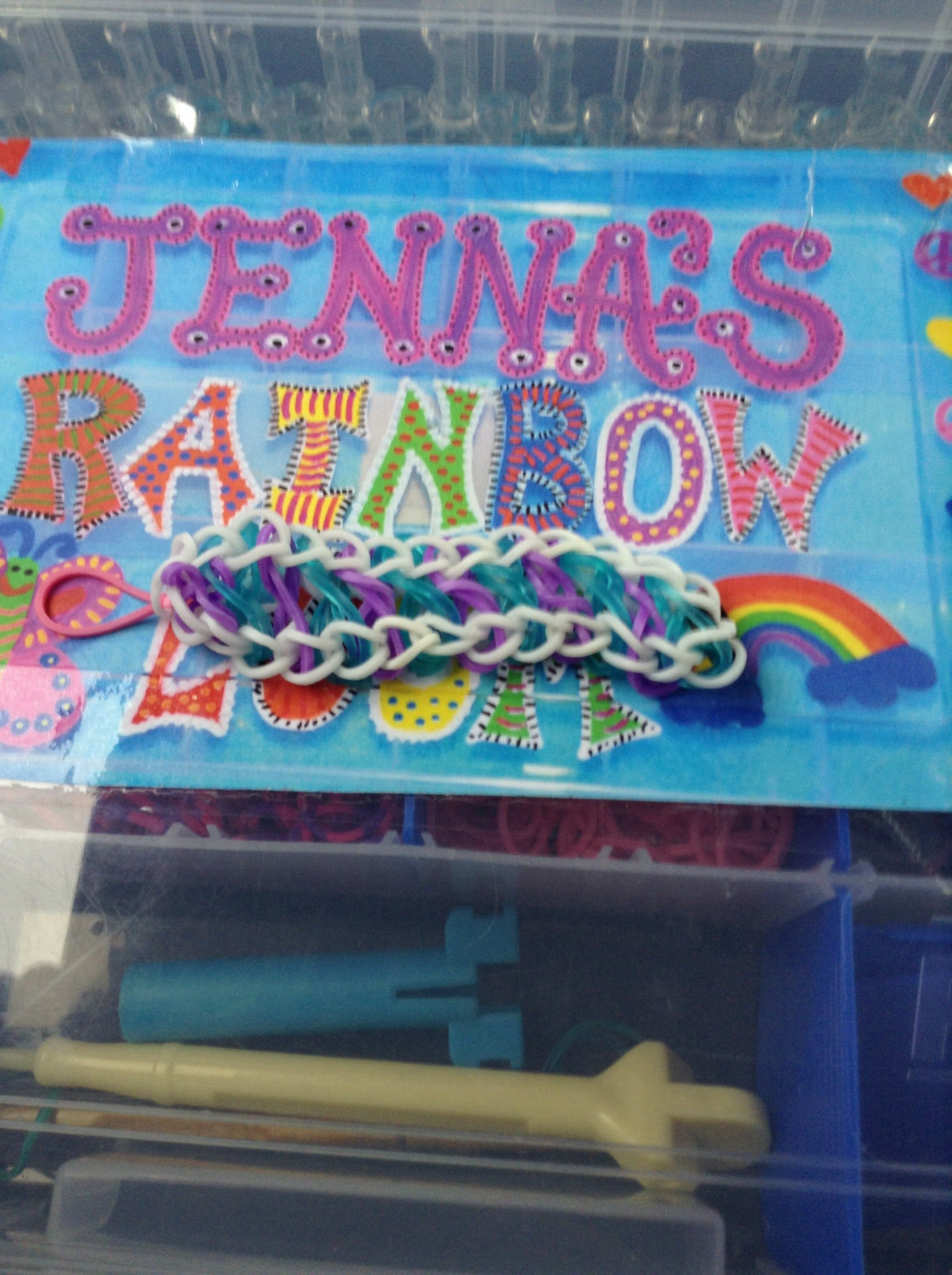 My infinity bracelet by Rainbow Loom