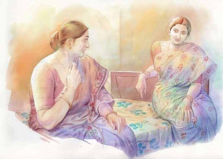 Pin on Indian women painting