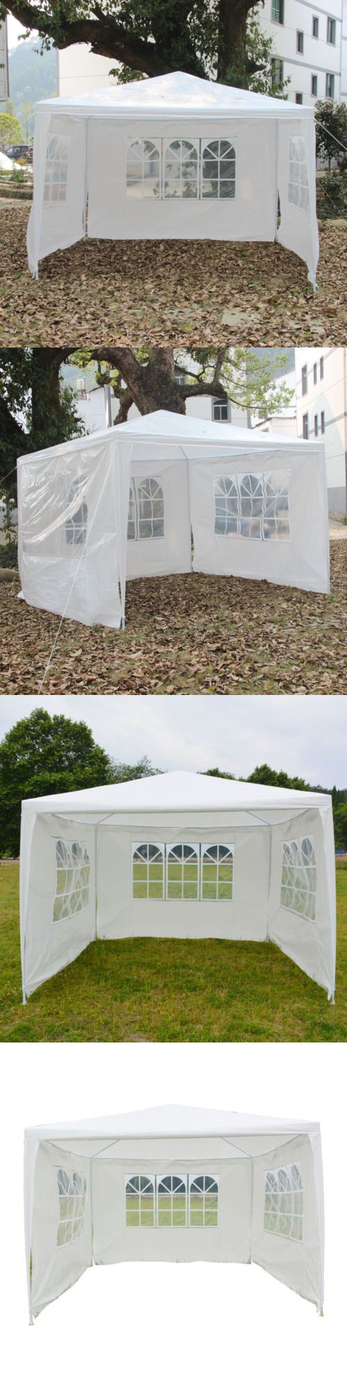 Details About 10 X10 Garden Outdoor Canopy Party Wedding Tent Gazebo Pavilion W 3 Window Wall Canopy Outdoor Outdoor Gardens Gazebo
