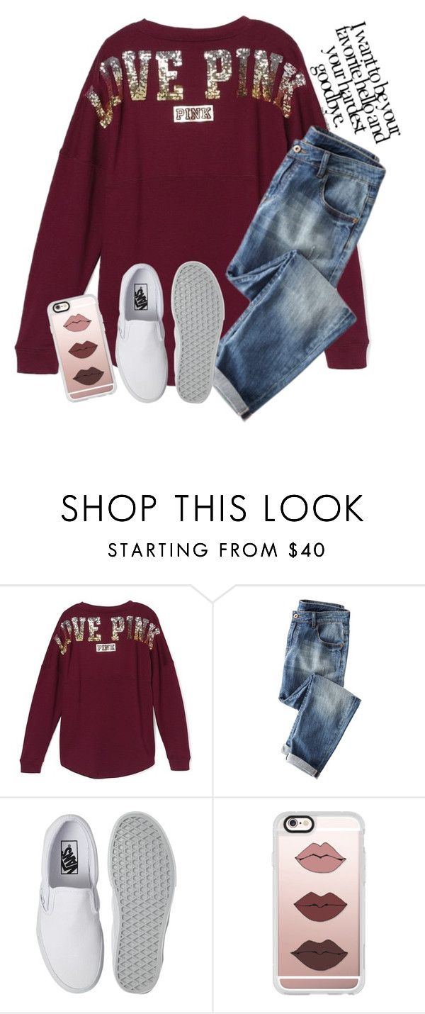 """""""Going to a birthday party tomorrow"""" by graciegirl2015 ❤ liked on Polyvore featuring Victoria's Secret, Vans and Casetify"""
