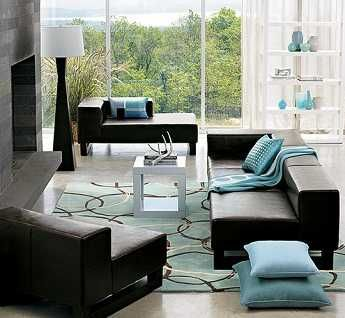 decoracion sofa negro buscar con google