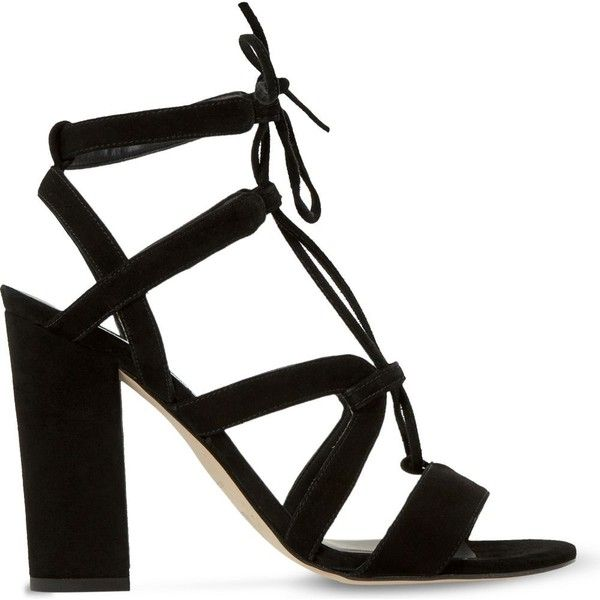 e95929be63d DUNE Marlow suede heeled sandals (145 CAD) ❤ liked on Polyvore featuring  shoes