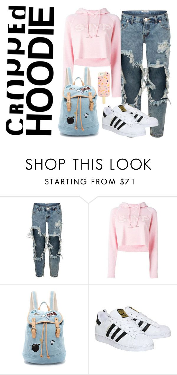 """Pink Hoodie"" by tinavalemarel ❤ liked on Polyvore featuring One Teaspoon, Steve J & Yoni P, Paul & Joe Sister, adidas and Tory Burch"