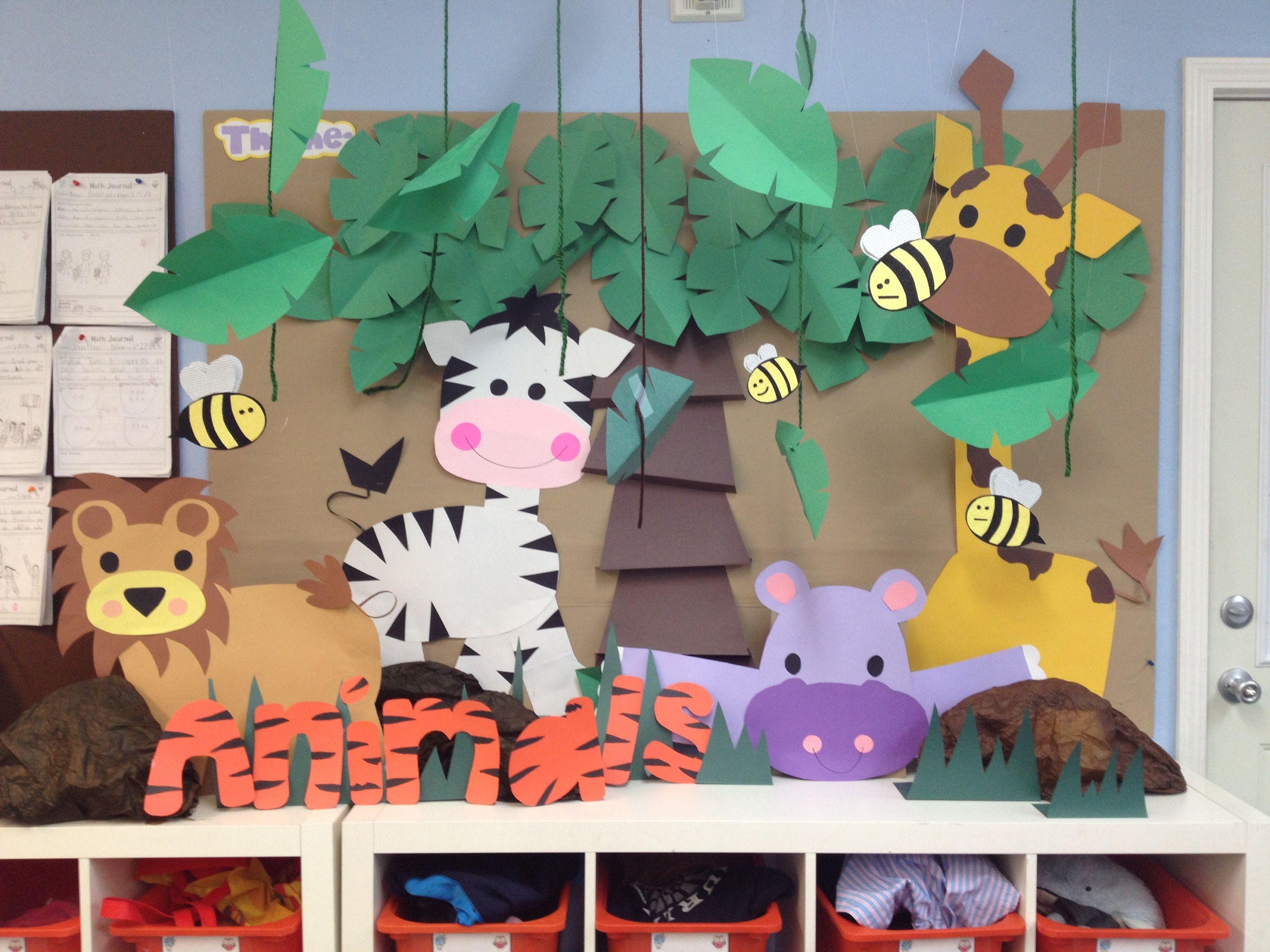 Theme Board Animals Kindergarten Class