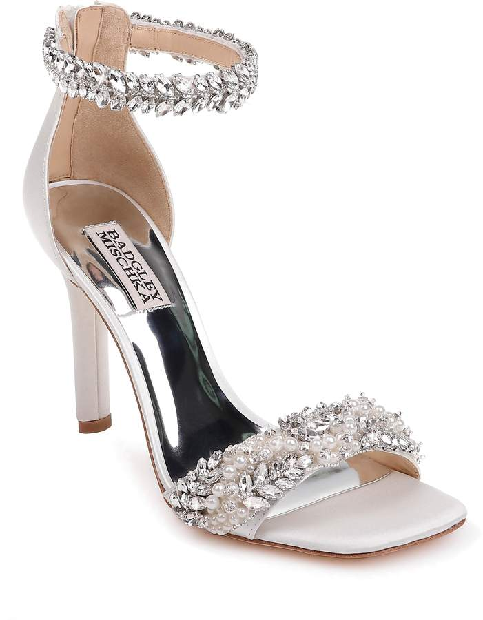 c604d79b93b Badgley Mischka Collection Fiorenza Crystal   Imitation Pearl Embellished  Sandal