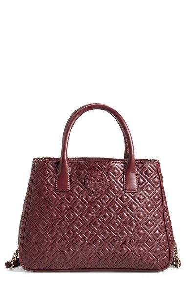 Tory Burch Marion Quilted Lambskin Tote Available At Nordstrom