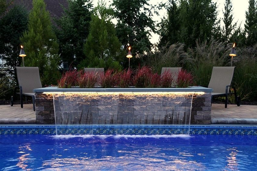 8 Ft Sheer Descent Waterfall With Led Remote Controlled Lighting