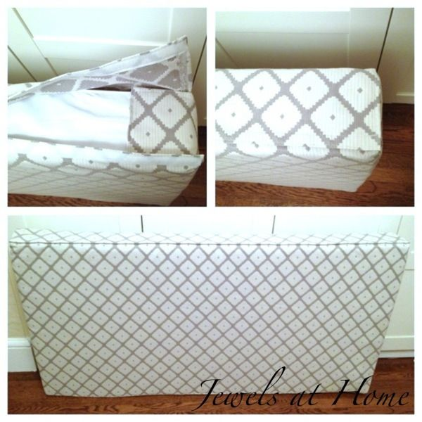 for sewing an cushion cover to make a daybed out of a crib mattress