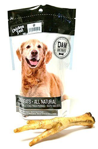 Dm All Natural Dehydrated Chicken Feet Dog Treats 110g Dogs Treats