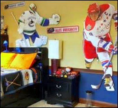 boys bedroom sport themed hockey - Google Search | Jackson Room ...