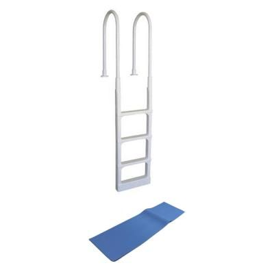 Main Access Main Access Pro Series Above Ground Swimming Pool In Pool Ladder With Mat 200300 87953 The Home Depot Above Ground Swimming Pools Pool Ladder Swimming Pools