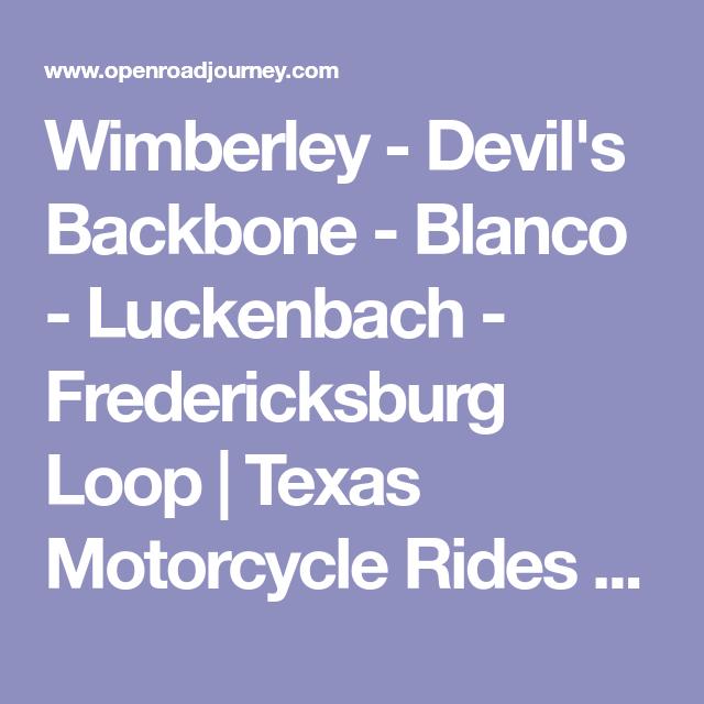 Wimberley Devil S Backbone Blanco Luckenbach