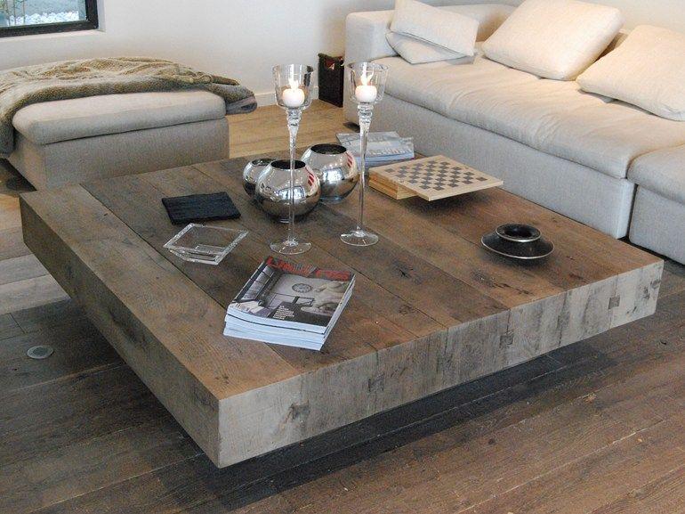 Low Oak Coffee Table Bonheur Square Coffee Table Cabuy D