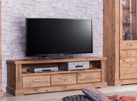 tv unterschrank colorado akazie massiv holz lowboard tv board fernsehtisch rattan home lounge