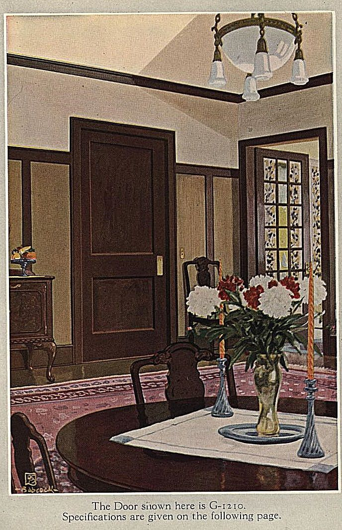 1920 Dining Room Gould Manufacturing Co Open Living Room Design Craftsman Dining Room Bungalow Interiors
