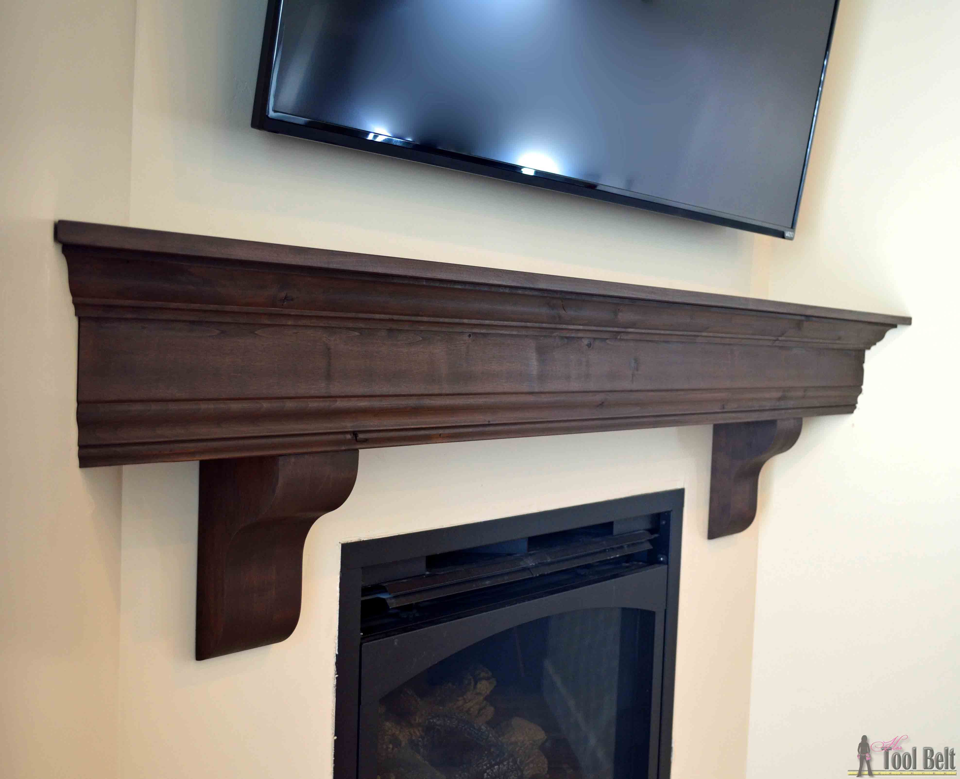 Diy fireplace mantel shelf diy fireplace mantel mantel shelf and create that room focal point that youve been dreaming about diy fireplace mantel solutioingenieria Images