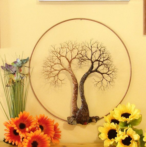 Tree Of Life sculpture wall decor, Soul Mate Spirits, metal Tree ...