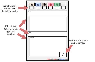 image relating to Printable Mtg Tokens known as iheartprintandplay: Magic: The Accumulating Printable Tokens