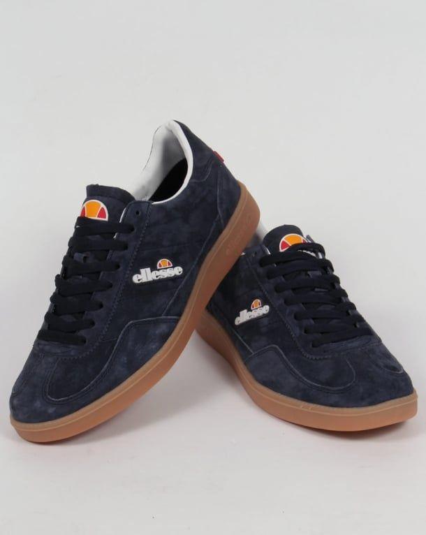 ec3bc1c56 Ellesse Calcio Trainers Navy/Gum,heritage,suede,shoes,mens | Baju ...