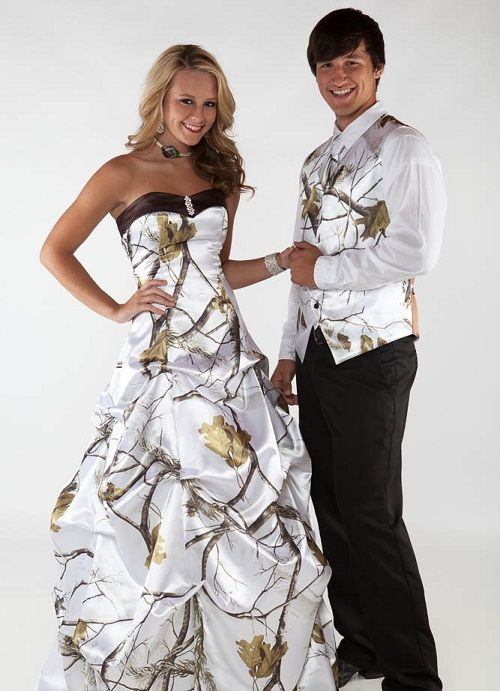 52905d73cf95 Gallery For Camo Prom Dresses And Tux | Idk | Camo wedding dresses ...
