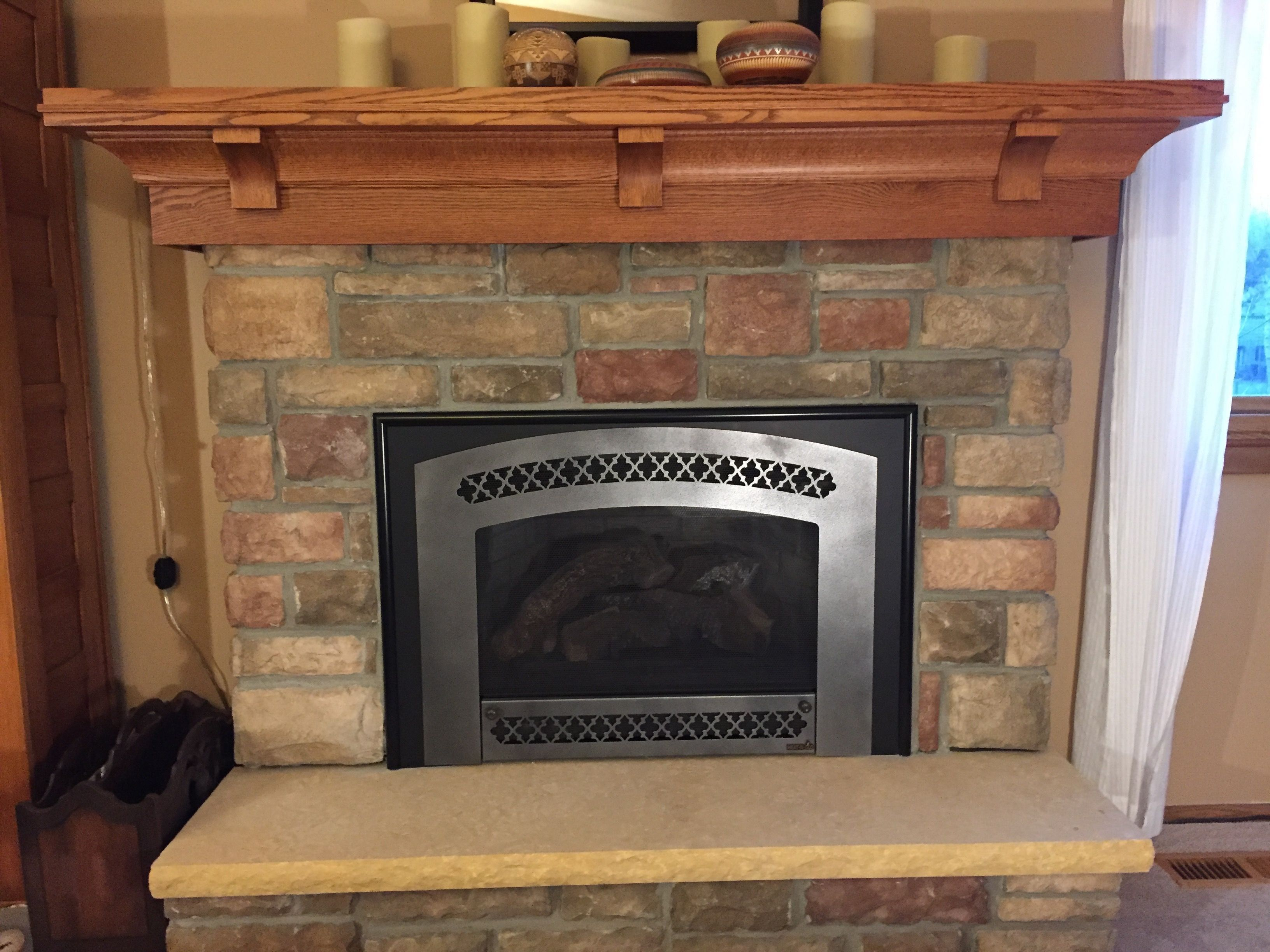 mantel refinished for oak fireplace mantels diy ana red white projects