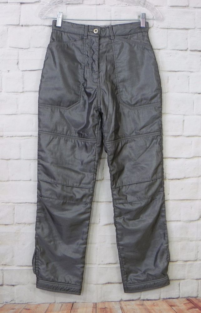 Girls OILILY Gray Button Waist Snap Cuffs Snow Board Ski Winter Pants Size 14 #Oilily #SkiPants #Everyday