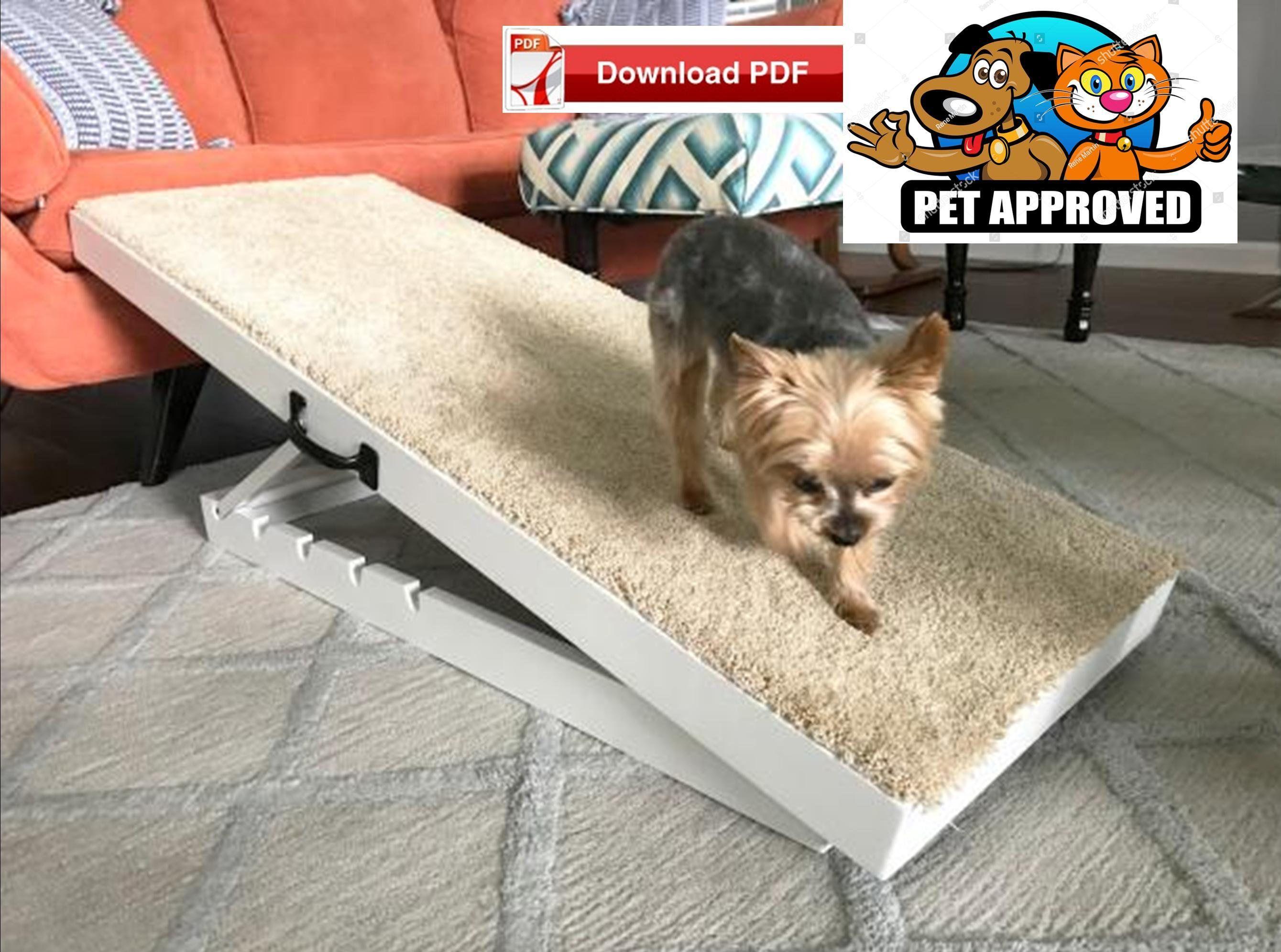 Adjustable Pet Ramp Plan Dog Ramp Plan Animal Ramp Plan Cat Etsy Dog Ramp Diy Pet Ramp Dog Ramp