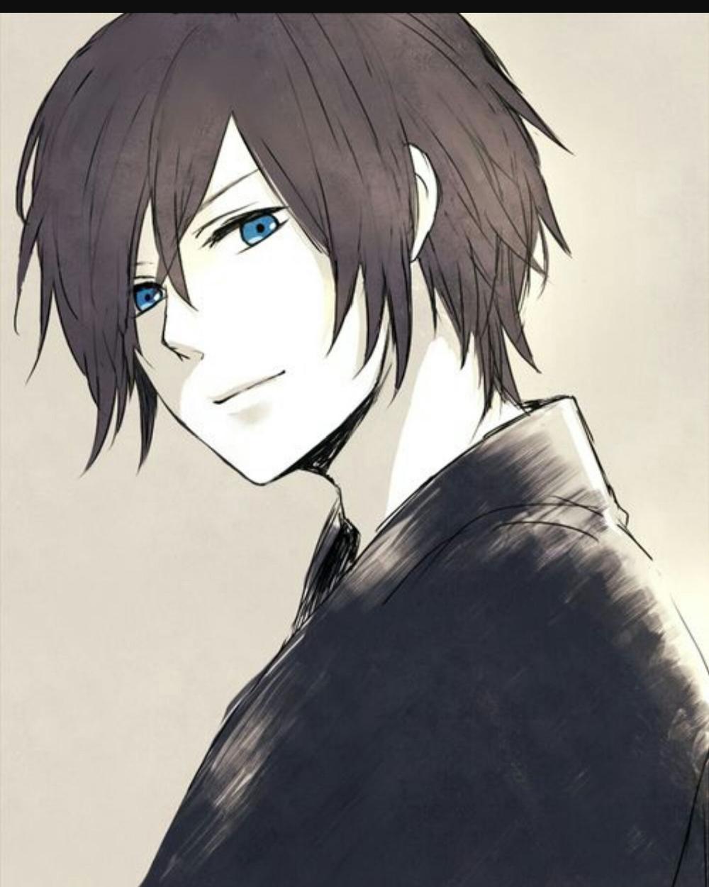 anime boy with brown hair and blue eyes - Google Search | Anime guy blue  hair, Anime guys with glasses, Anime