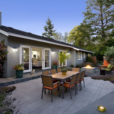 Saw Cut Concrete Patio Design Ideas, Pictures, Remodel, and Decor