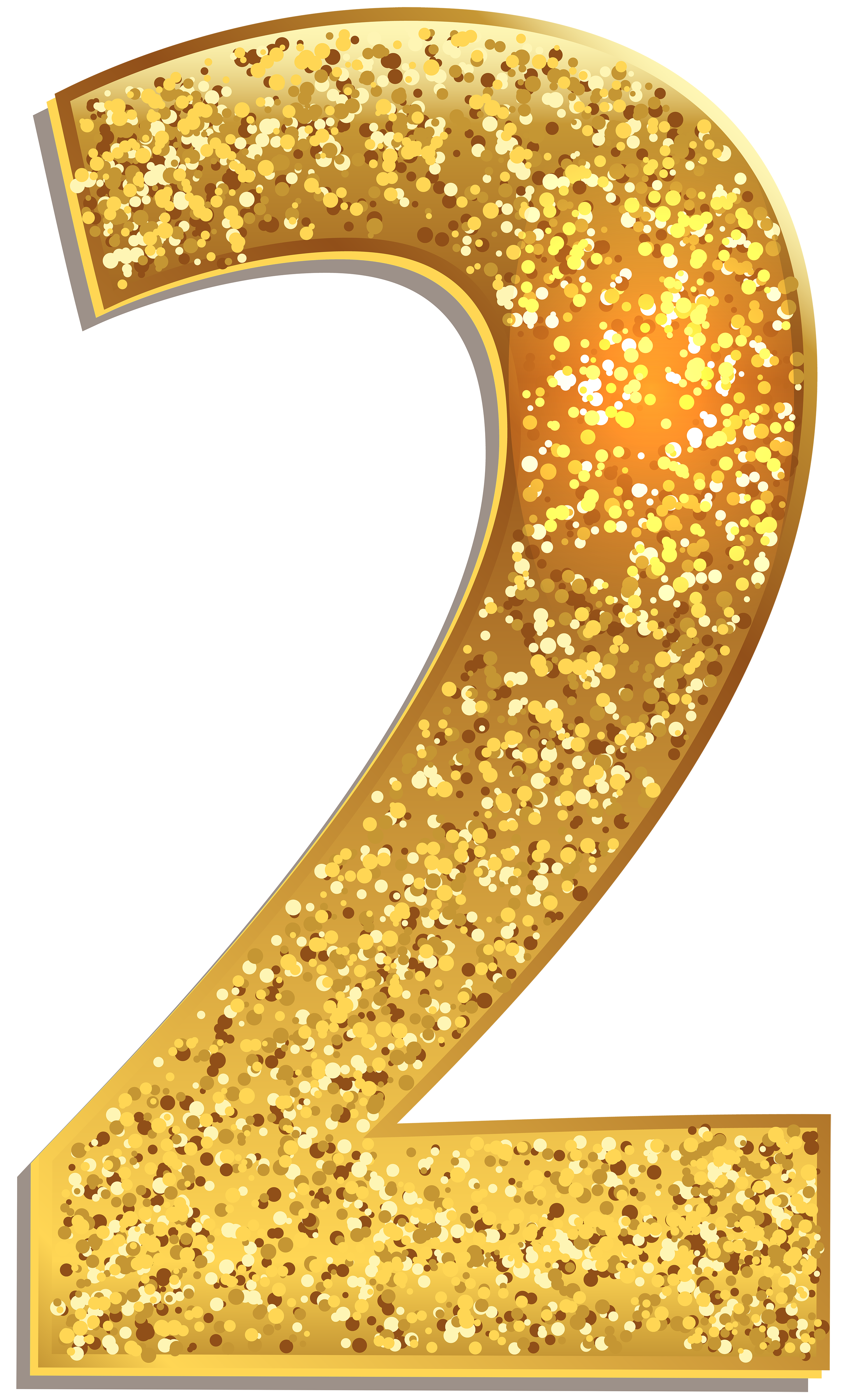 Number Two Gold Shining PNG Clip Art Image Gallery