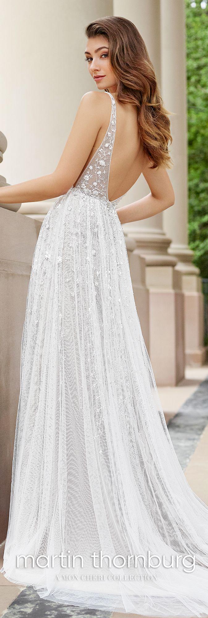 Embroidered V-Neckline A-Line Wedding Gown- 118254 Stanza | Blush ...