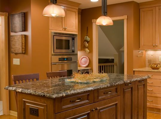 Golden Oak Cabinets Granite Countertops Remodeling Dimensions Has Been Providing Home Owners