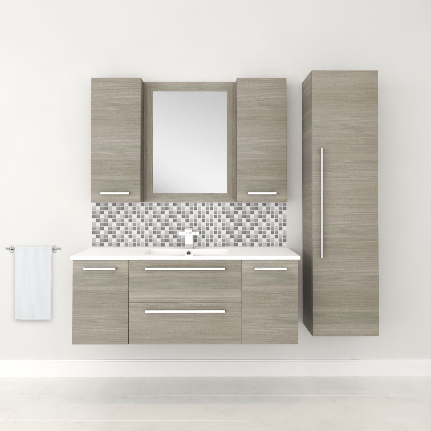 Custom Bathroom Vanities Brampton silhouette collection - aria #vanity #drawers #sink #lightcabinets