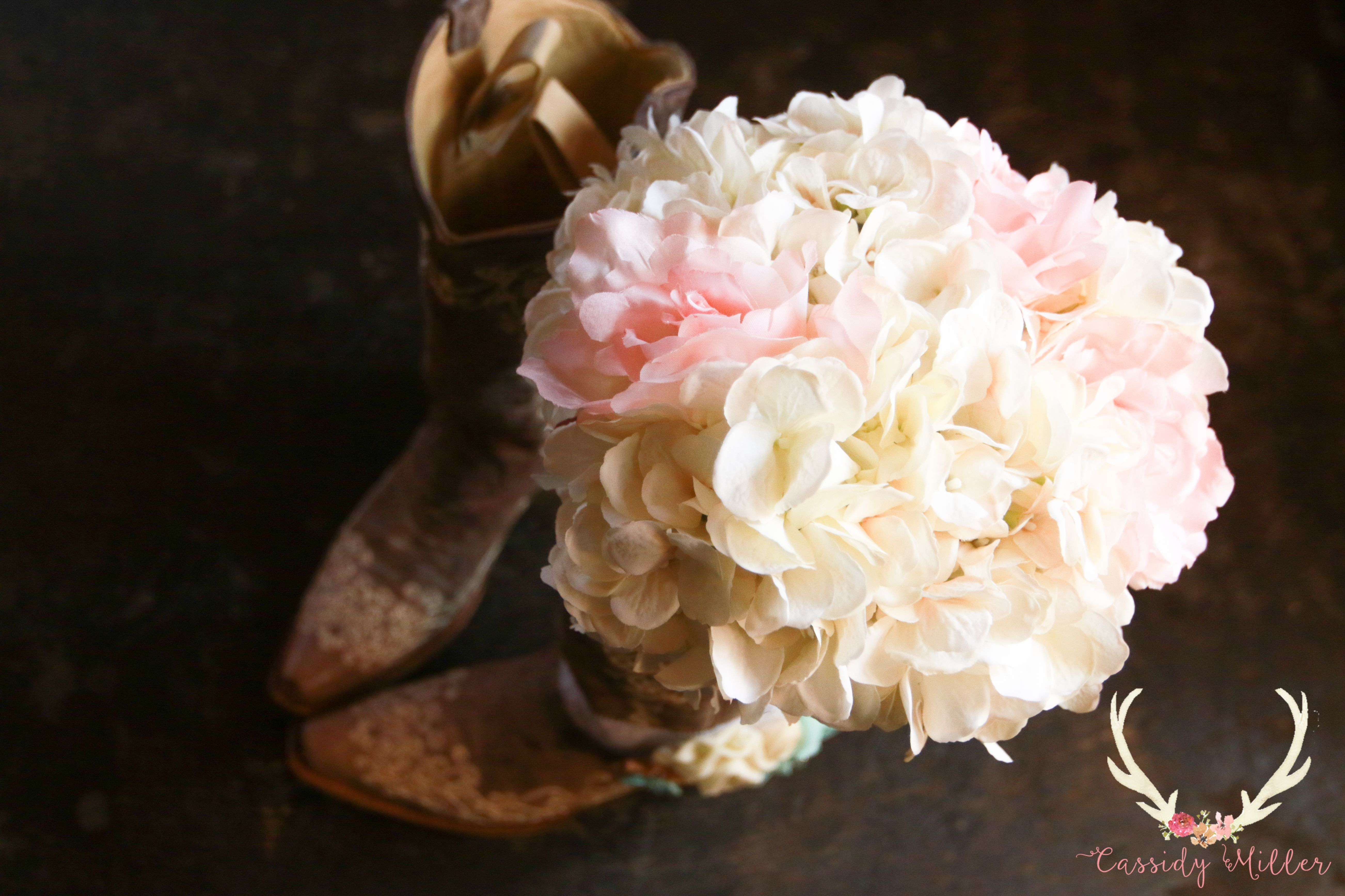 Bridal Bouquet & Boots | Southern Wedding | Display ideas | Photography