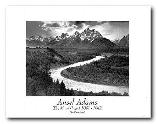 Ansel Adams Flat River Bend Wall Decor Art Print Poster Https Www Amazon Com Dp B01m1bbnp3 Ref Cm Sw R Pi D Grand Teton National Park Ansel Adams Tetons