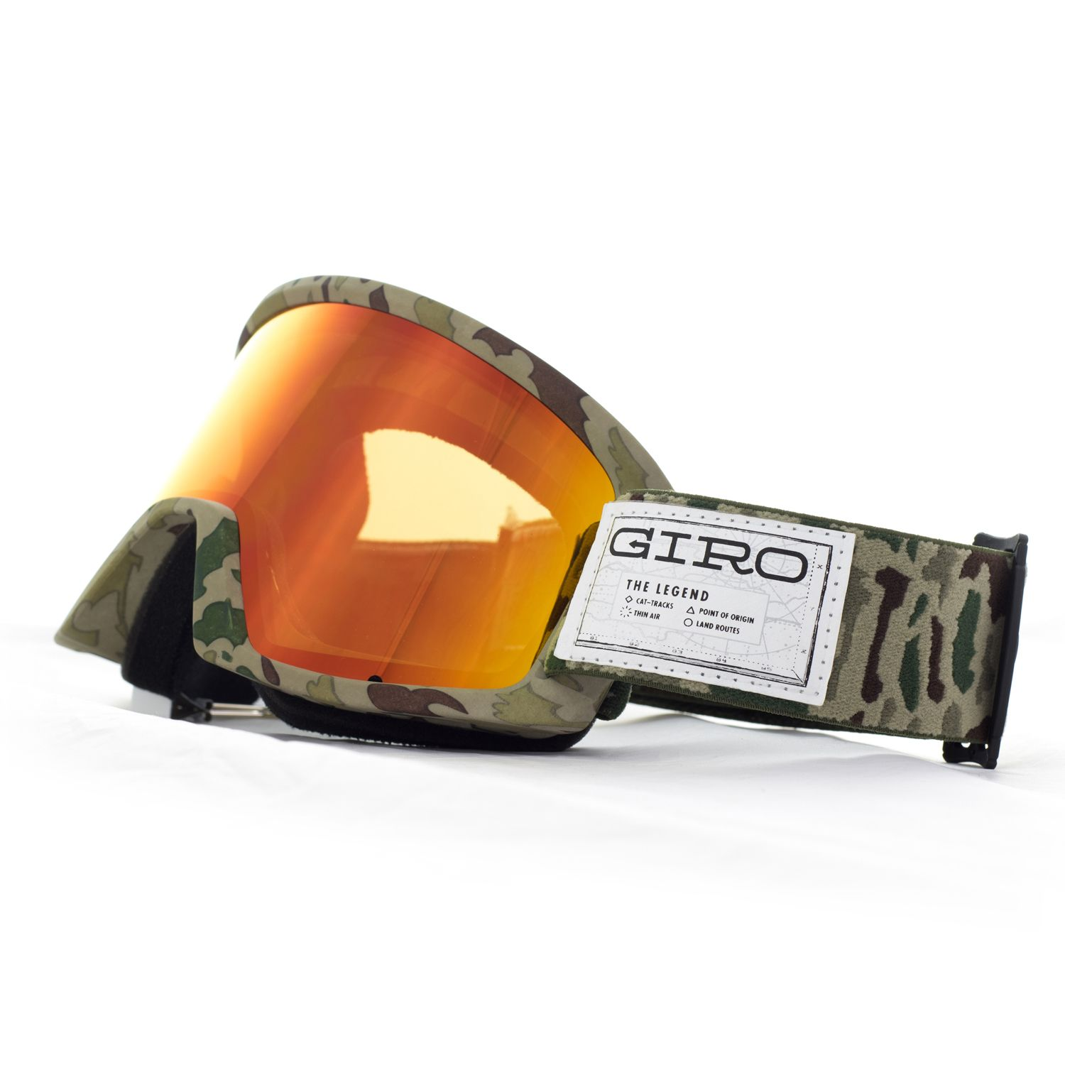 477b0e57f96c Giro Snow Goggle in Semi Brown Camo Design with Amber Scarlet Lens ...