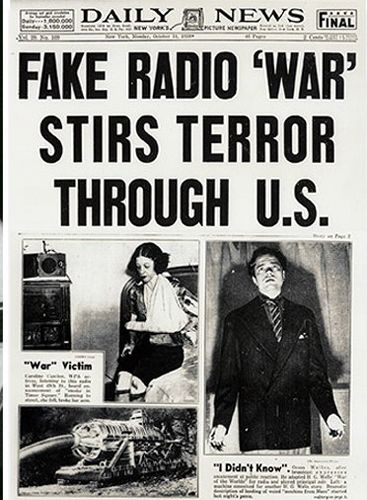 """The War of the Worlds"" Radio Broadcast"