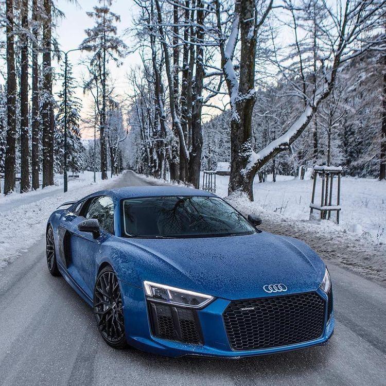 Audi R8 v10 plus blue #audir8