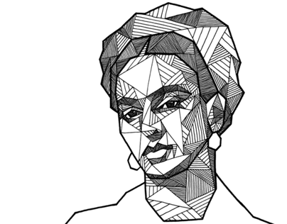 Geometric Portraits - hand drawn with Microns & Faber-Castell PITT Artist Pens