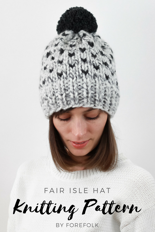 Fair Isle Hat Knitting Pattern  e58a883c138a