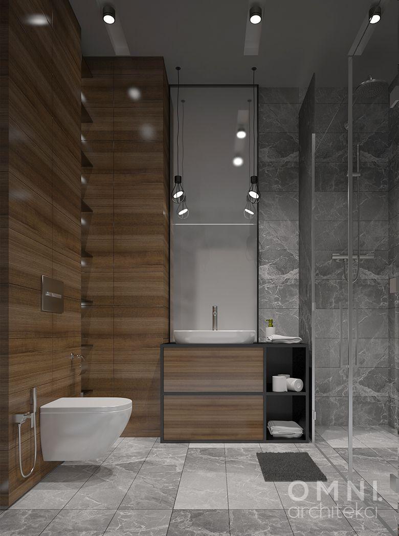 Klasyczna łazienka Wykończona Płytkami Imitującymi Drewno