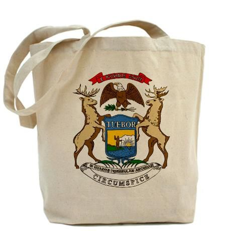 Michigan Flag Theme Tote Bag $15.00