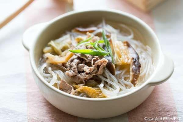 泡菜牛肉冬粉湯