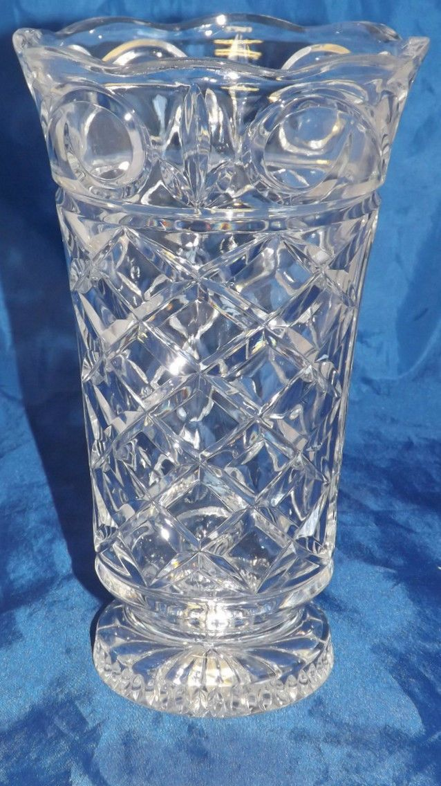 Crystal Vase By Fifth Ave Crystal Brighton Style 302941 Gb Items