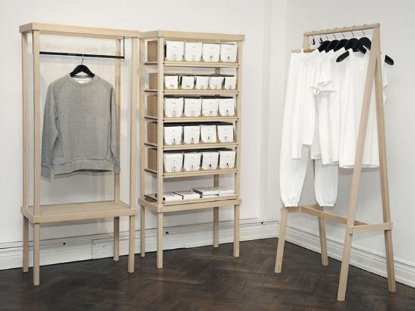 Simple Clothing Display Furniture Clothes Storage