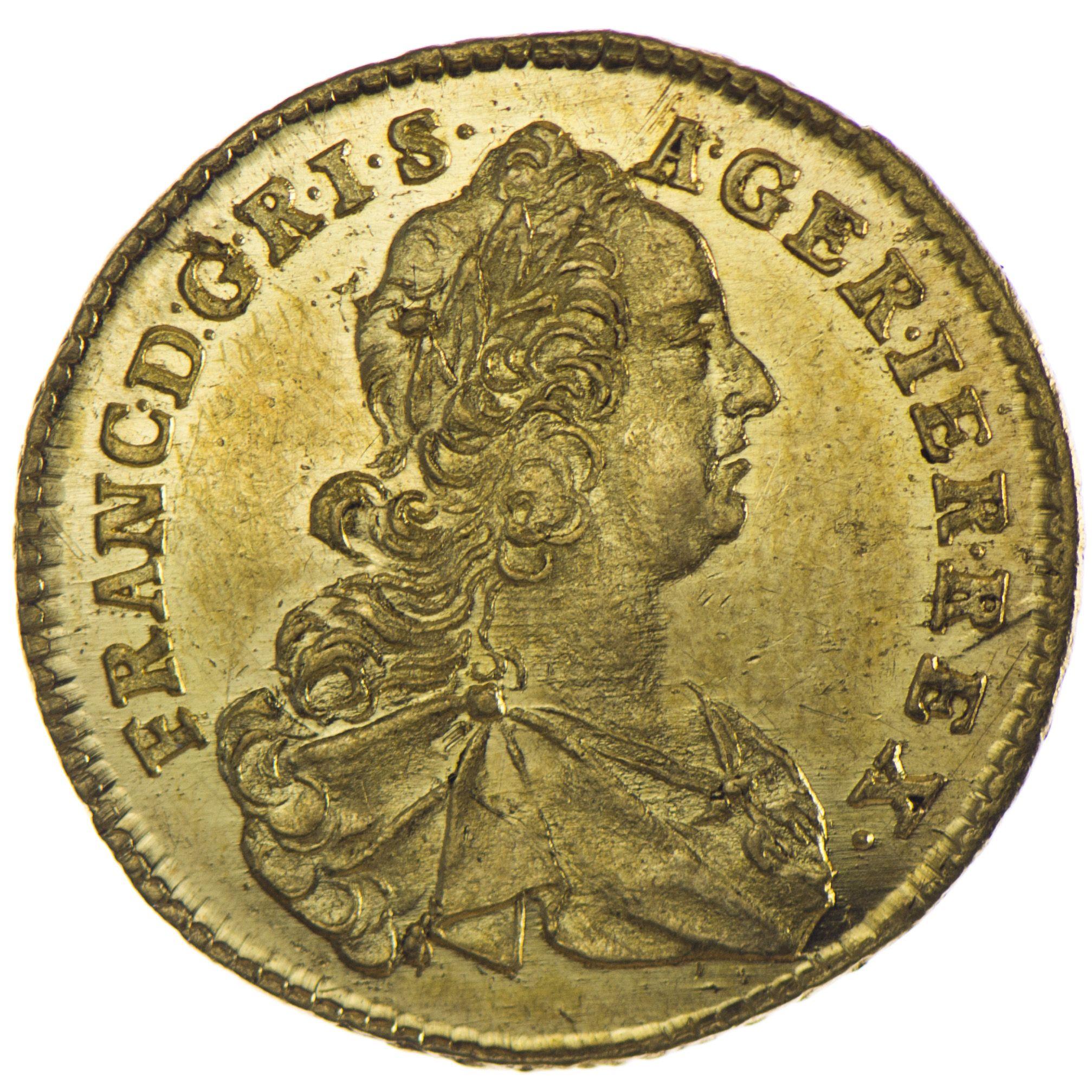 Franz I Stefan 1745 1765 Dukat 1756 Hall Gold Monedas
