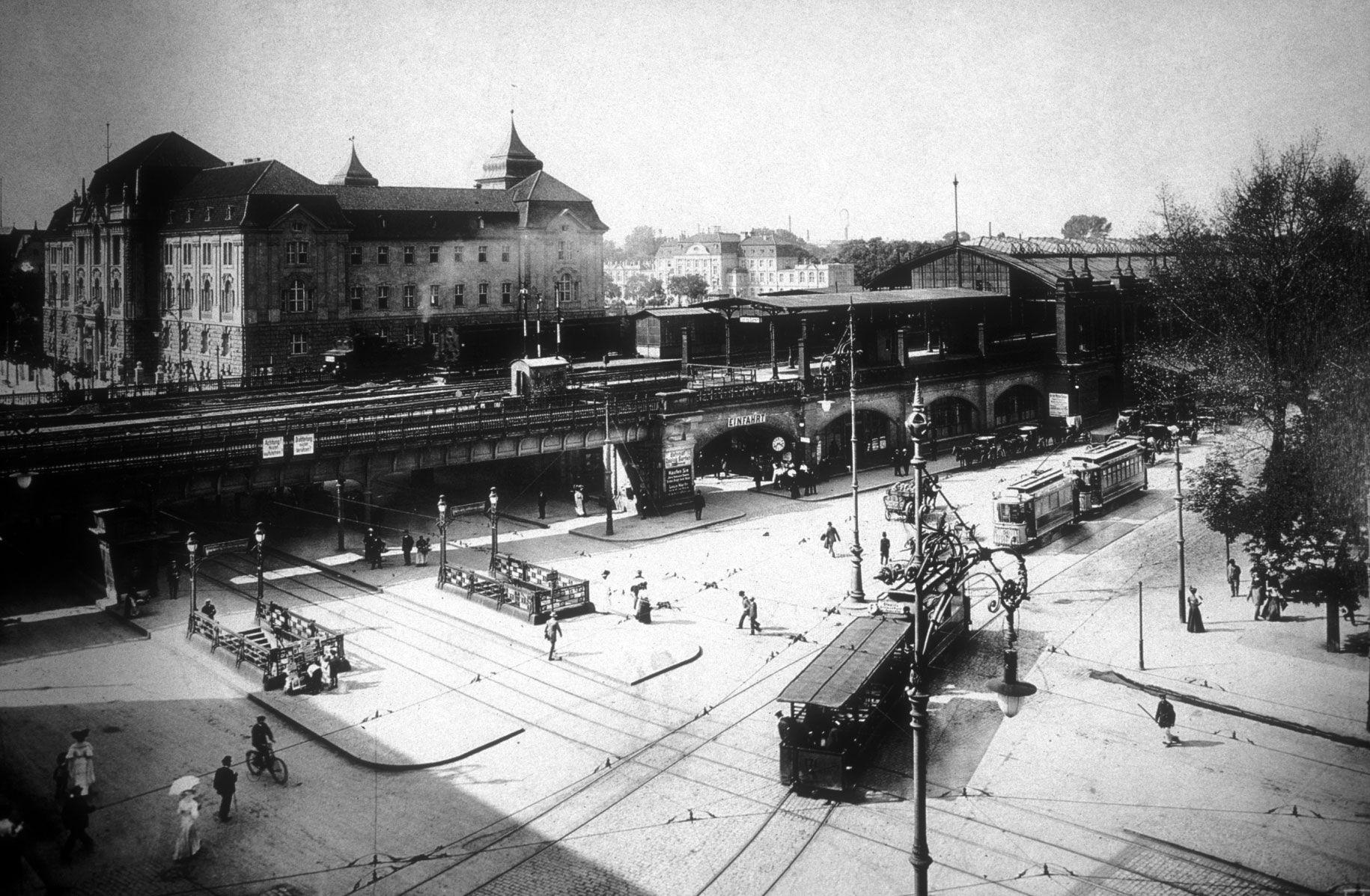 Berlin | Vor 1933. Bahnhof Zoologischer Garten c. 1907. Max Missmann