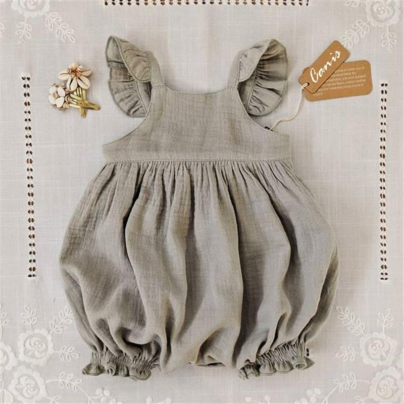 Baby Girls Cotton Linen Romper Bloom Pants Bodysuit Jumpsuit Outfits Clothes Playsuit 0 24m Wearlooks Kids Outfits Kids Fashion Baby Girl Romper