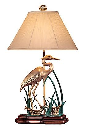 Wading Crane Brass Lamp 119 By Wildwood Lamps