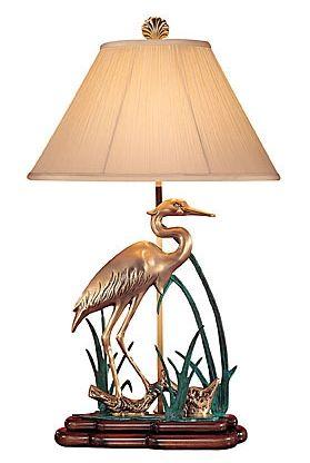 Wading crane table lamp tommy bahama pinterest office spaces wading crane table lamp aloadofball Choice Image